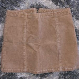 Tan mini skirt size Xsmall